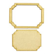 Frame and Panel 10 - Wooden 3mm MDF Laser Cut Craft Blank Scrapbook Topper